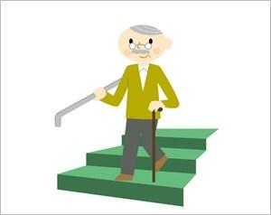 杖をついたおじいさん
