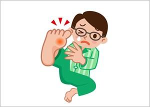 足の親指の痛み-痛風
