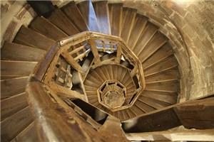 スパイラル式の階段