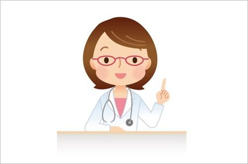 生理中の歯痛を説明する医師